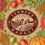 Vintage Farmer's Market Label