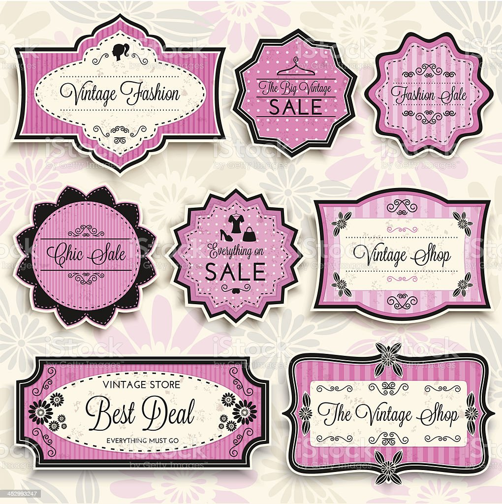 Vintage Fashion Sale vector art illustration
