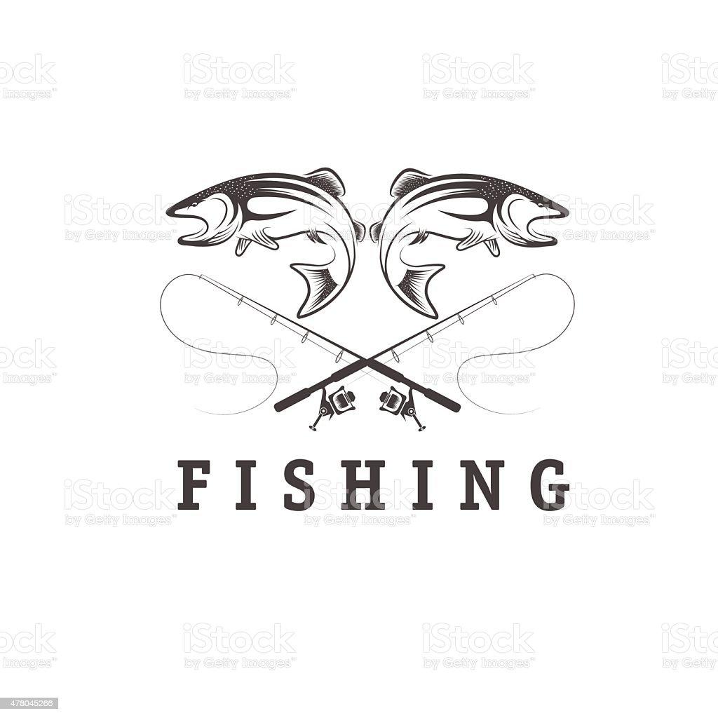 Vecteur de pêche vintage design template - Illustration vectorielle