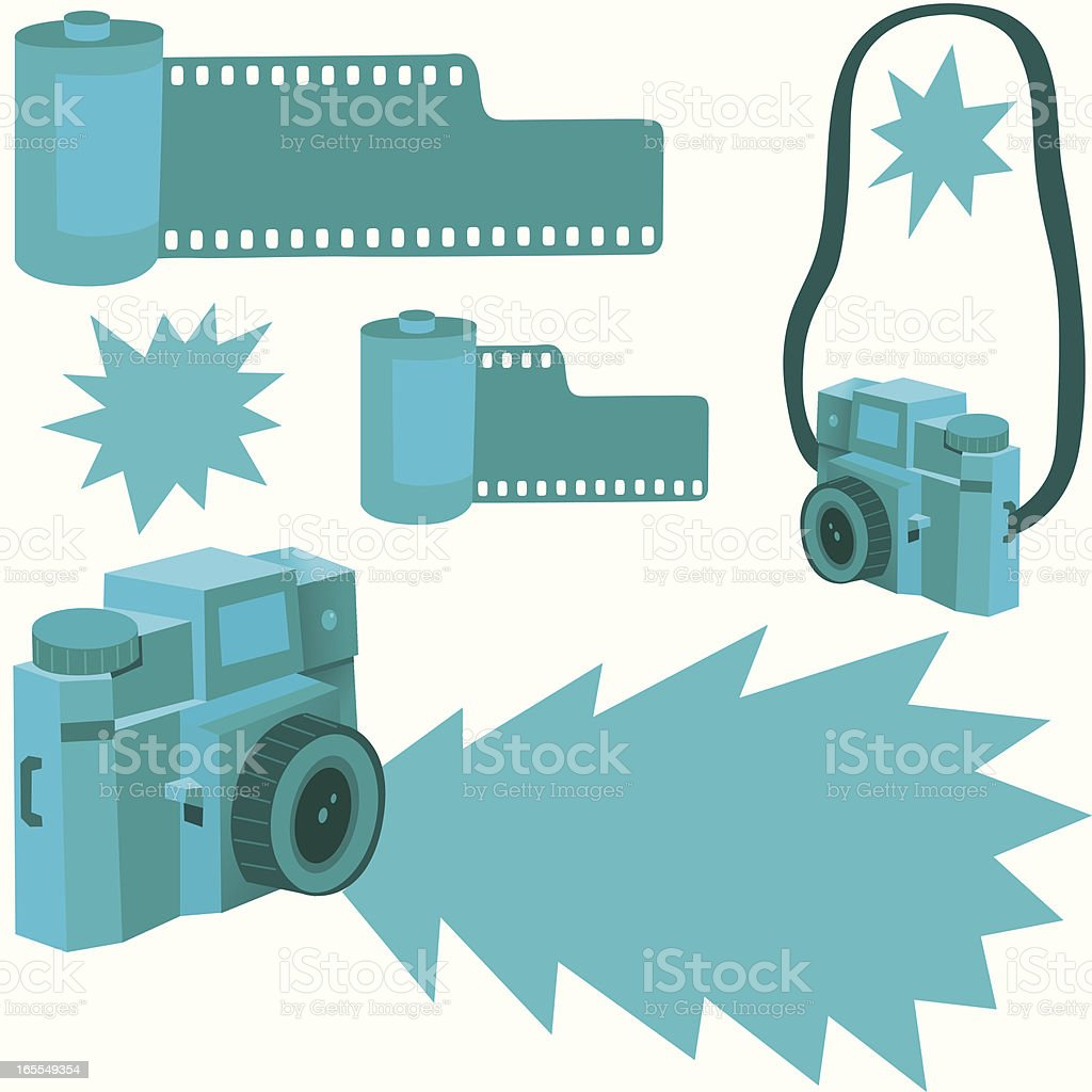 Vintage Flashers vector art illustration