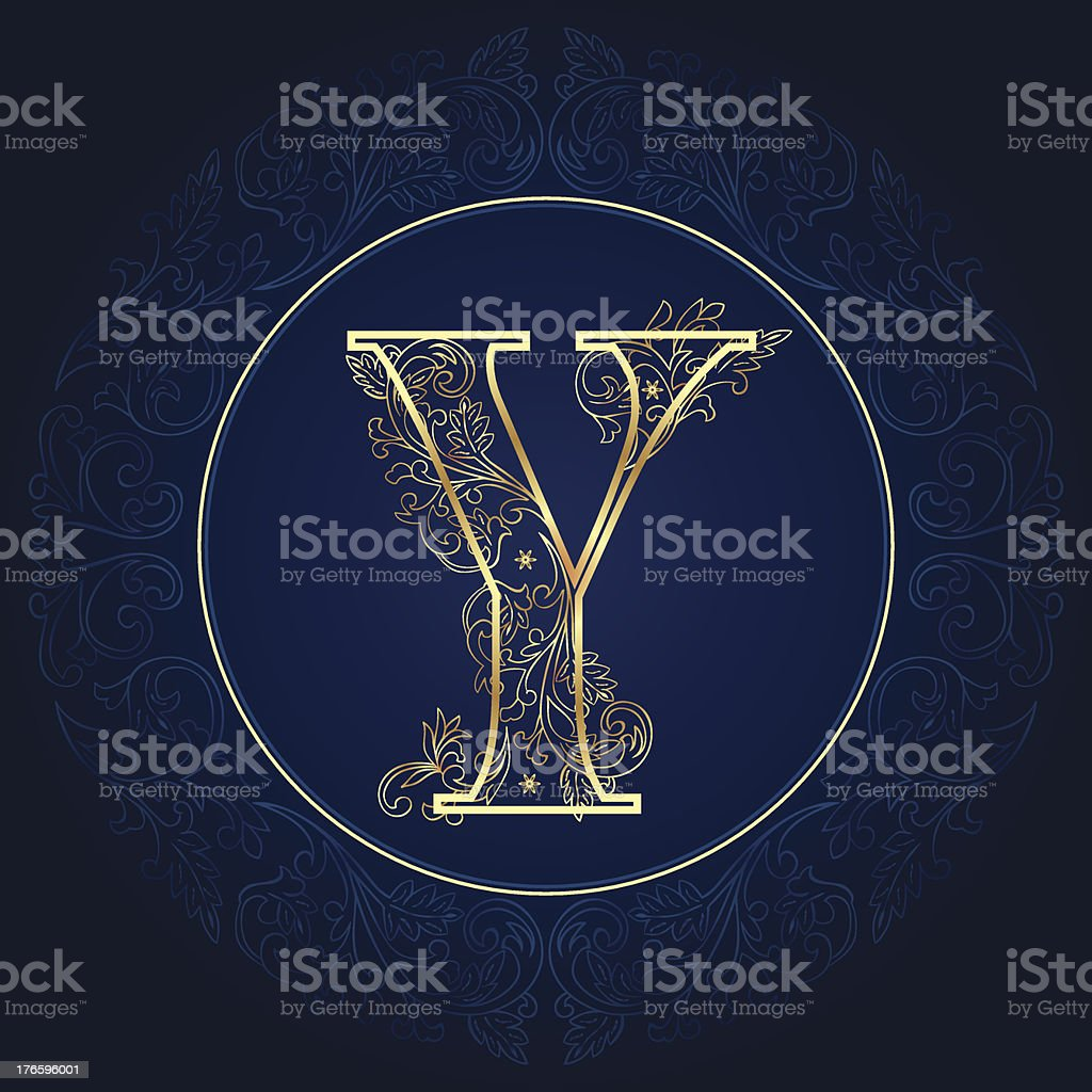 Vintage floral alphabet letter Y royalty-free vintage floral alphabet letter y stock vector art & more images of alphabet