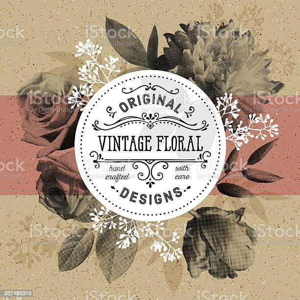 Vintage floral and modern circle frame over craft paper background vector id537485315?b=1&k=6&m=537485315&s=612x612&h=b0gobypimbhc072izvy kwfgtrbi fry9y1igzybges=