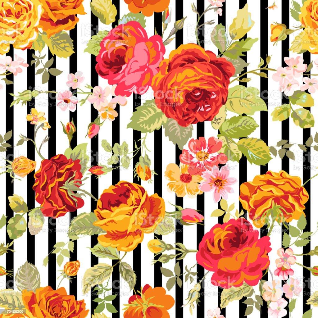 vintage floral background seamless pattern for design
