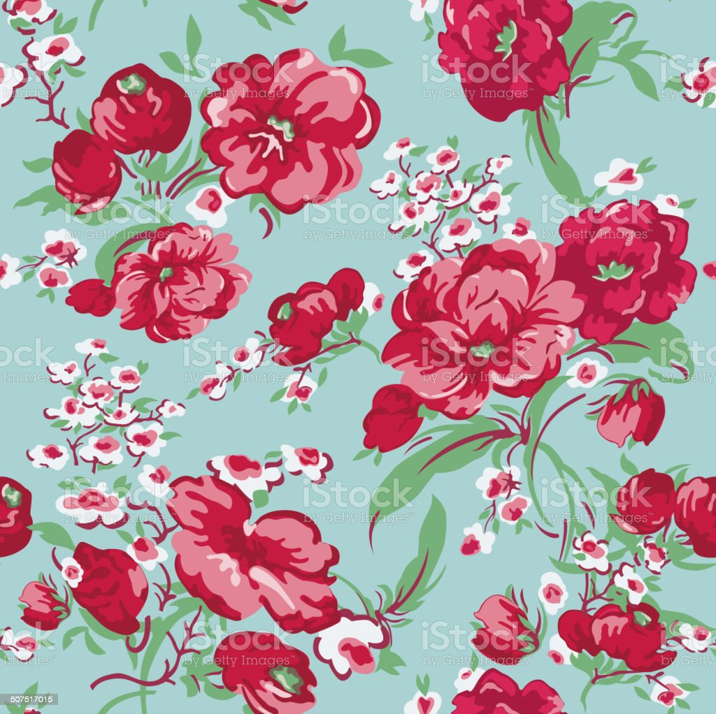 vintage floral background seamless pattern stock vector