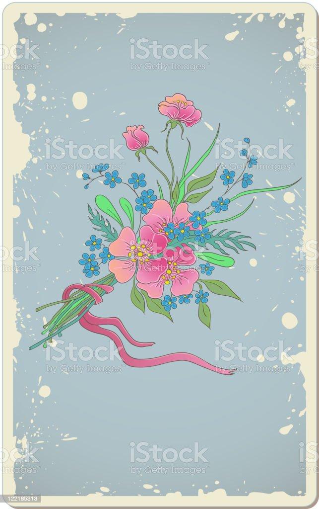 vintage floral background royalty-free stock vector art