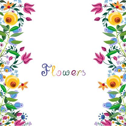 Vintage floral border.