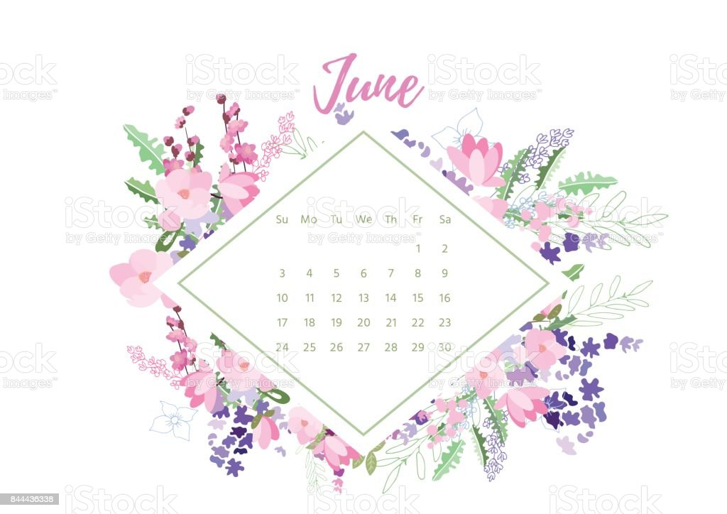 2018 Calendar Vintage : Vintage floral calendrier cliparts vectoriels et