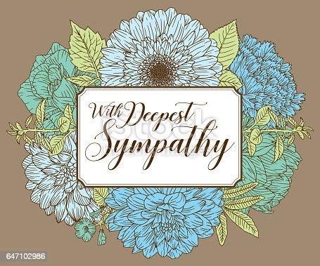 istock Vintage Floral Card Design Template 647102986