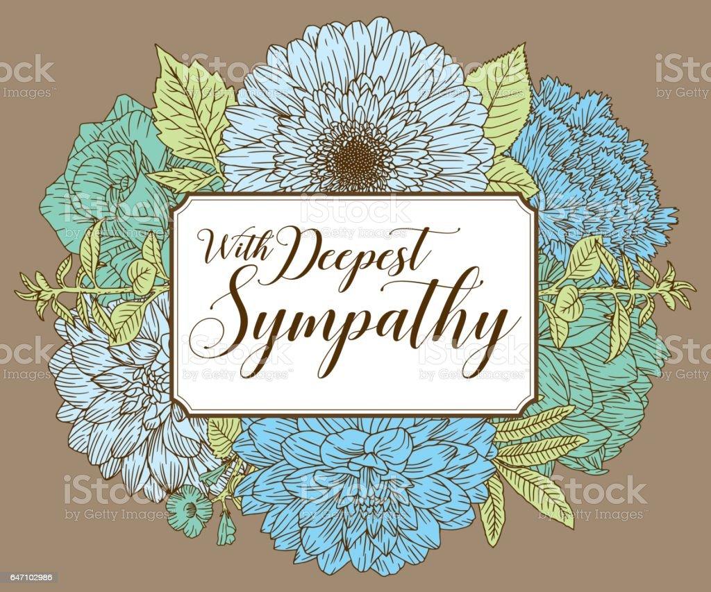 Vintage Floral Card Design Template vector art illustration