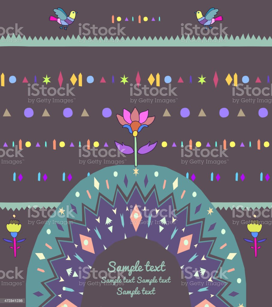Vintage floral card royalty-free stock vector art
