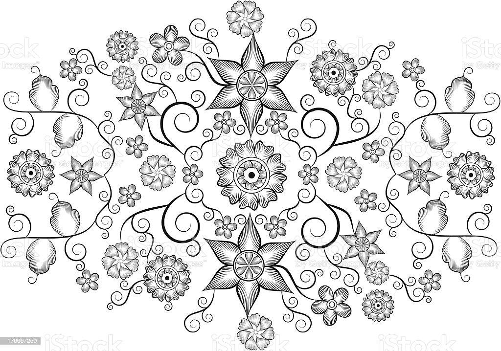 Vintage Floral Design royalty-free vintage floral design stock vector art & more images of backgrounds