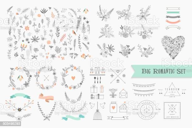 Vintage floral elements set of flowers icons and decorative elements vector id503495293?b=1&k=6&m=503495293&s=612x612&h=5wkplqonka4lzofmi27vv2b cxatthcee01wtbtbs i=