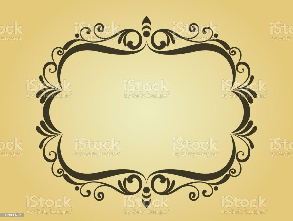 Vintage floral frame royalty-free stock vector art