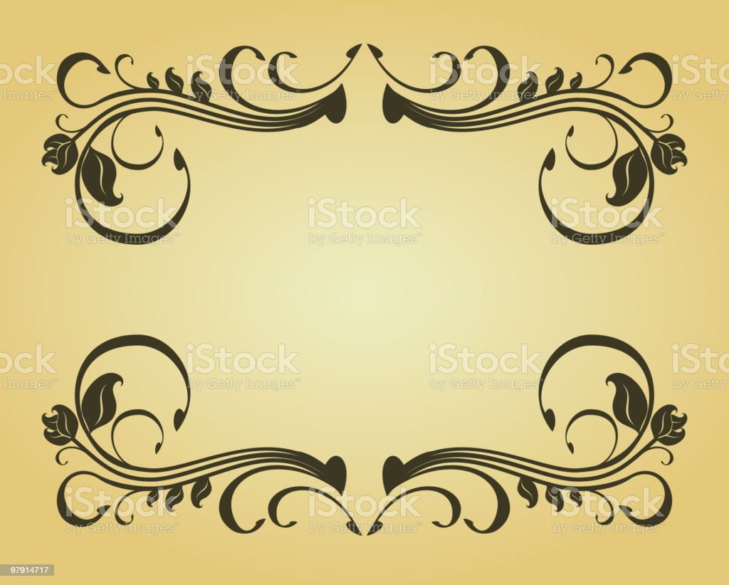 Vintage floral frame royalty-free vintage floral frame stock vector art & more images of backgrounds