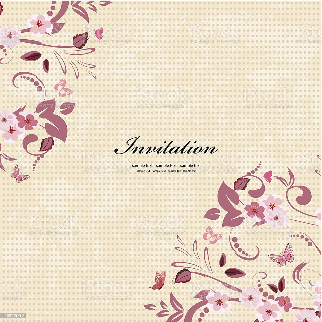 Vintage floral pattern for your design royalty-free stock vector art