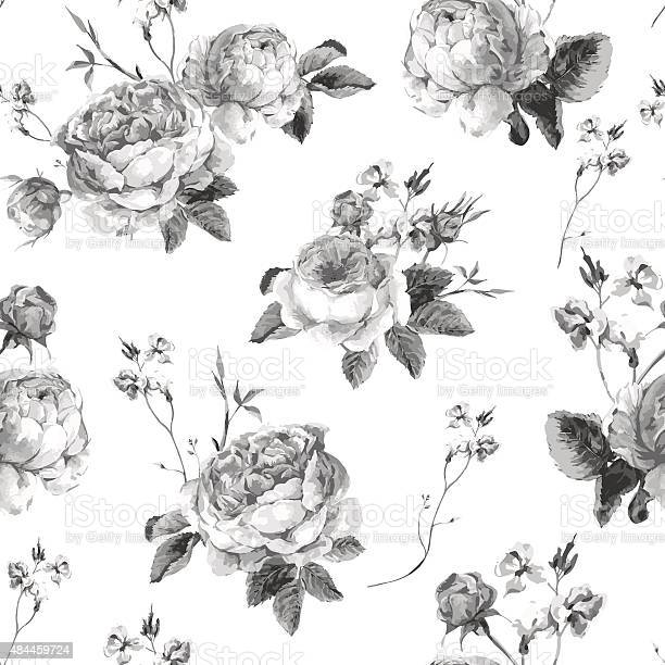 Vintage floral seamless background with blooming english roses vector id484459724?b=1&k=6&m=484459724&s=612x612&h=rdxomvvnkqyqeahxzj7brhehep4wbxy29y1lwcnno9o=