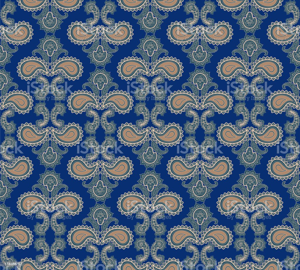 Vintage floral seamless brocade background. royalty-free stock vector art