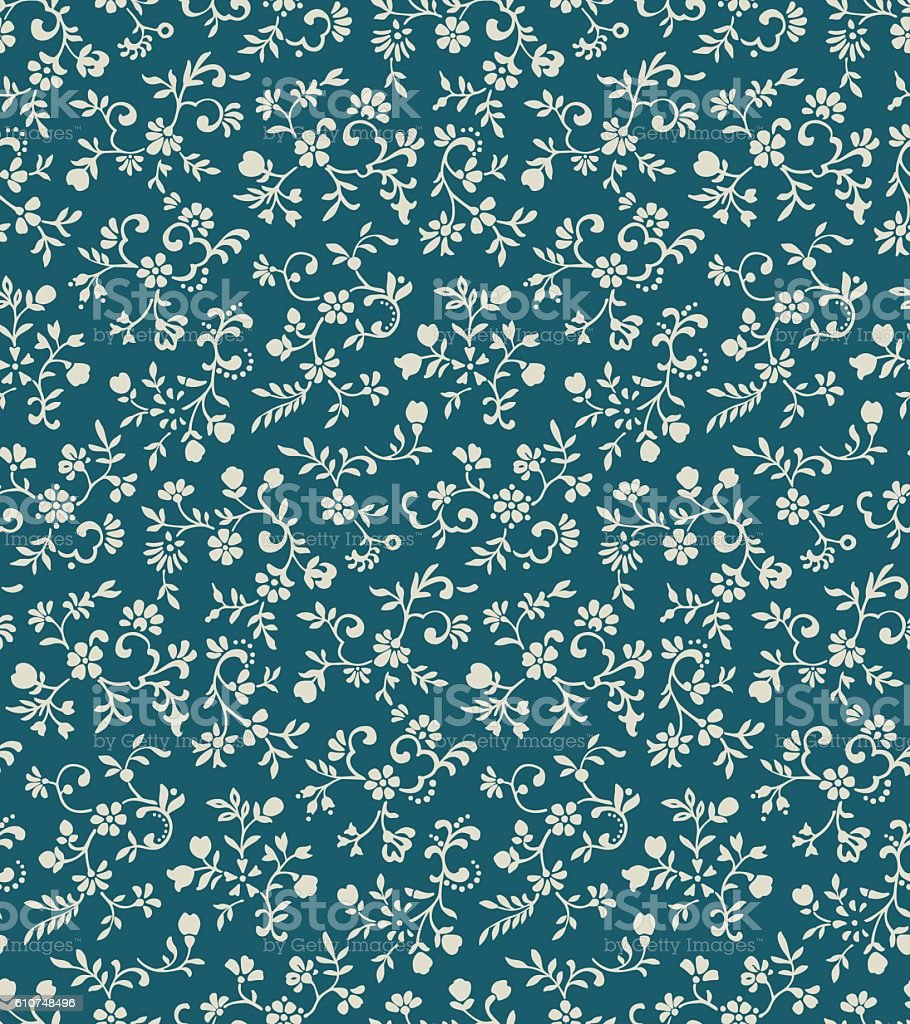 Vintage floral seamless pattern royalty-free vintage floral seamless pattern stock vector art & more images of art