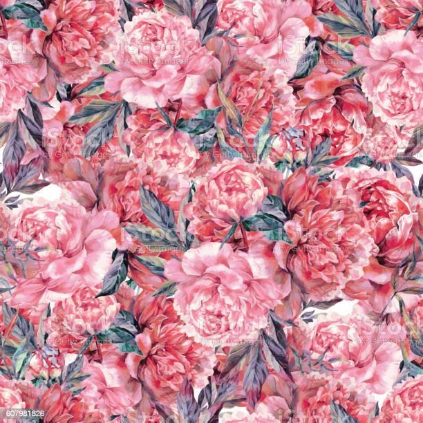 Vintage floral seamless watercolor pattern vector id607981826?b=1&k=6&m=607981826&s=612x612&h=dwcgkkws6m  ucxszgjgmhws yzhxcqgb5h11hyra3c=