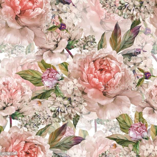 Vintage floral seamless watercolor pattern vector id607983296?b=1&k=6&m=607983296&s=612x612&h=pkr9ovgy av6wtl9n70cxcskihlfwjgwokobehqna44=