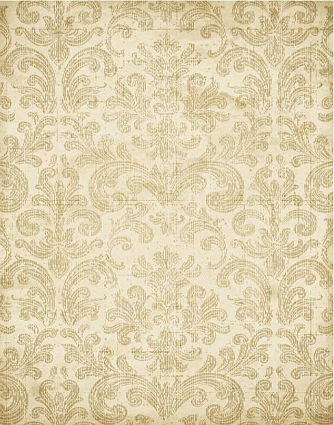 Vintage Floral Wallpaper Texture Vector vector art illustration