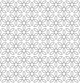 Black and white Seamless Linear Pattern. Monochrome Tileable Geometric Outline Ornate. Vintage Flourish Vector Background.