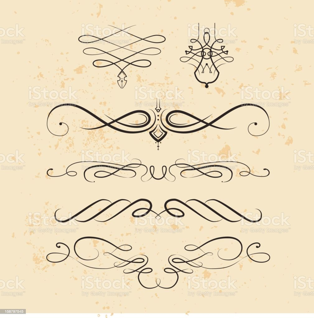 Vintage Flourishes royalty-free stock vector art
