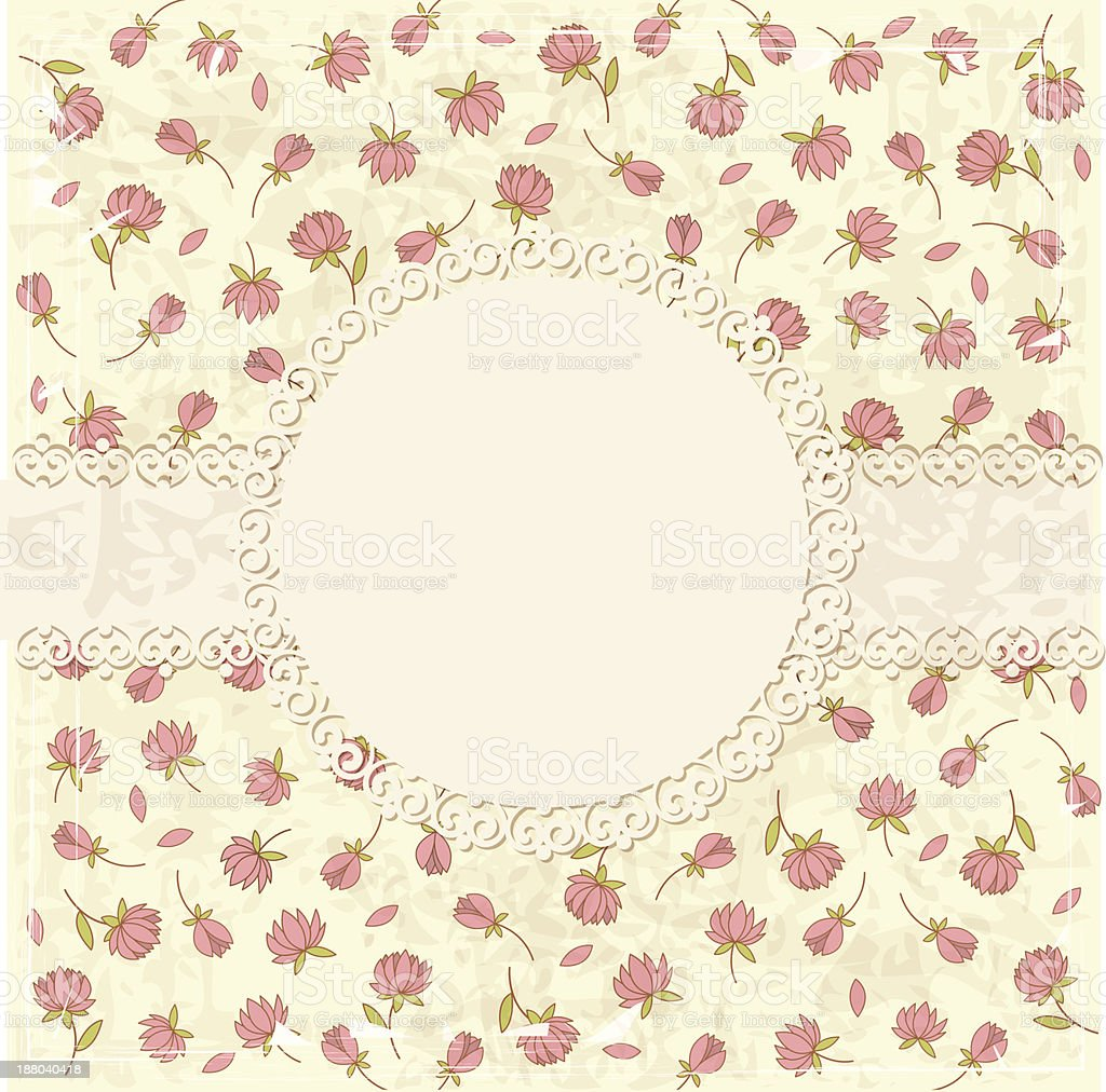 Vintage flower background royalty-free vintage flower background stock vector art & more images of anniversary card