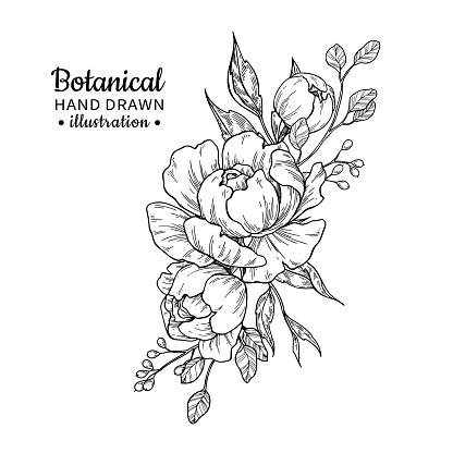 flower tattoos stock illustrations