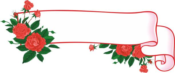 Rose Scroll Frame In Pink Illustrations, Royalty-Free ...