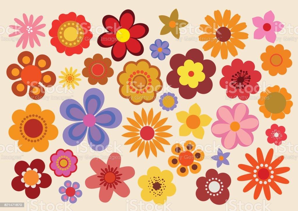 Vintage Flowers 3 vector art illustration