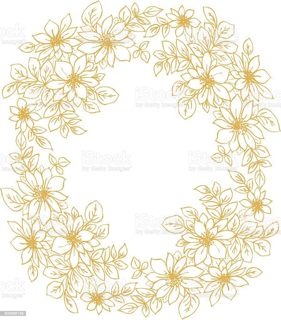 Clip Art Computer Graphic Cut Out Decoration Design Element Vintage Flowers Border