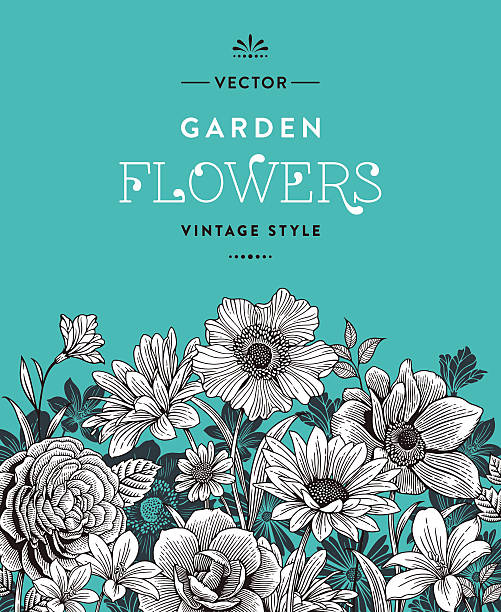 Vintage Flowers​​vectorkunst illustratie