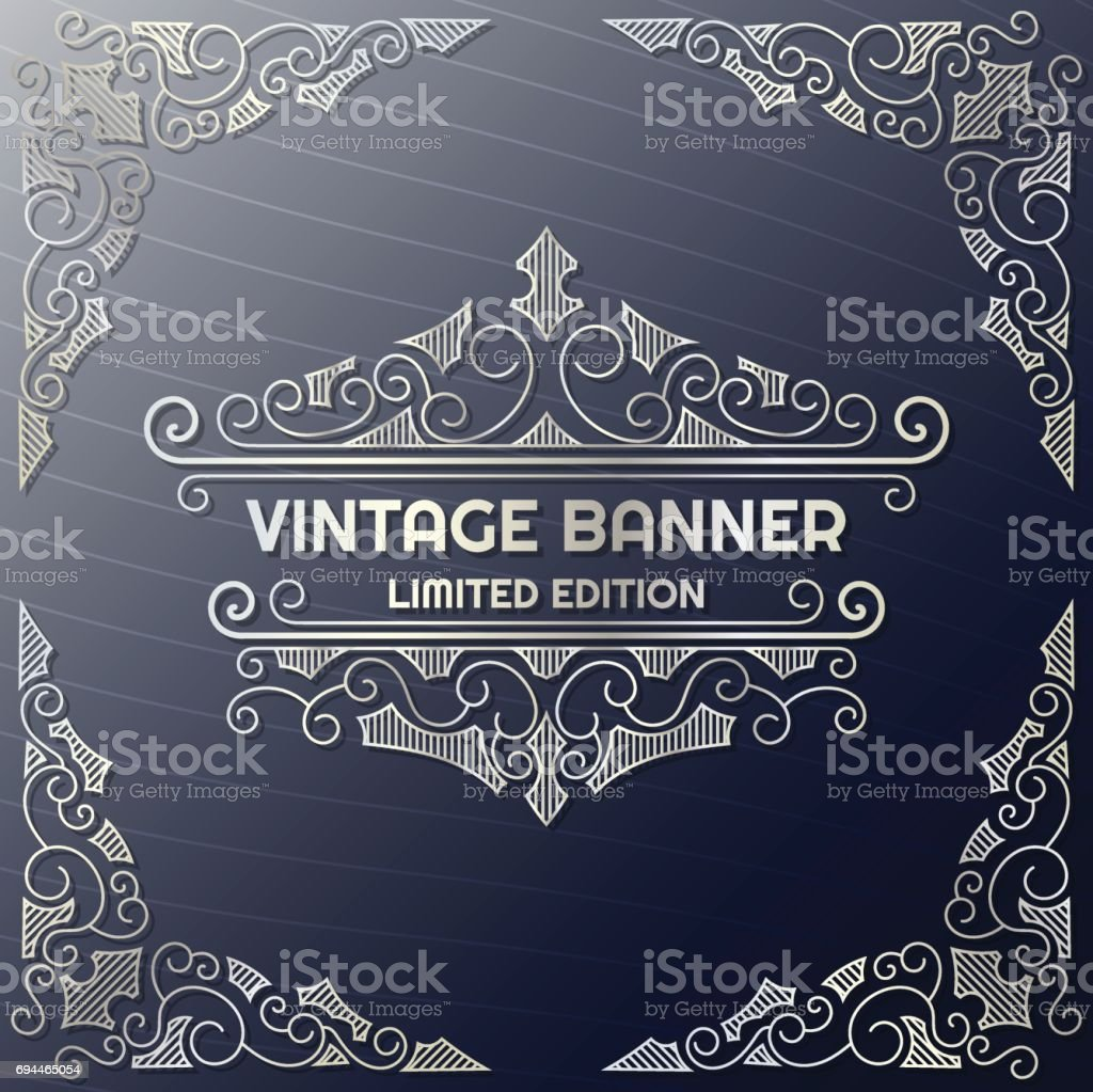 Fondo Vintage Flyer Plantilla De Diseño - Arte vectorial de stock ...