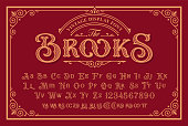 istock A Vintage Font in Victorian Style 1224837514