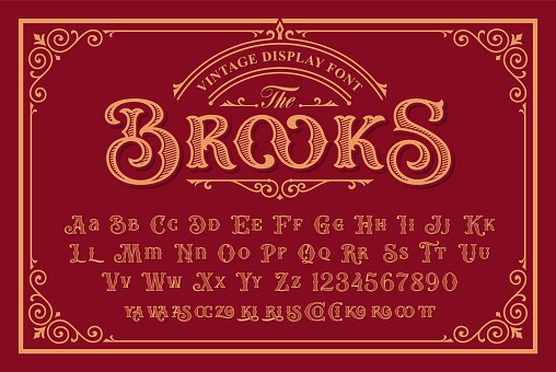 A Vintage Font in Victorian Style