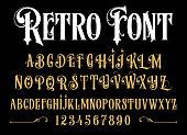 Vintage font.