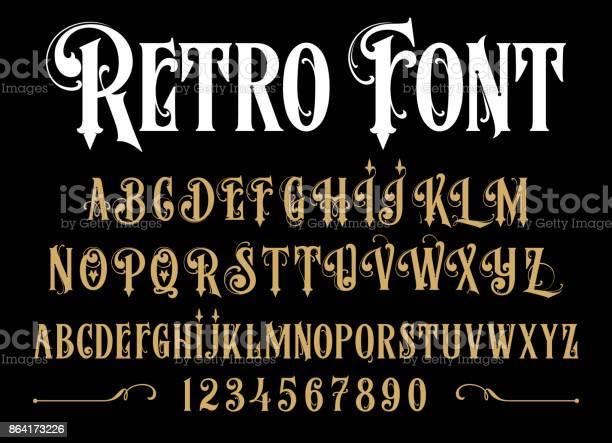 Vintage font vector id864173226?b=1&k=6&m=864173226&s=612x612&h=oj1fqucdkn2mdraqkv1zz0k3h5xc4llv8dal 5 irkw=