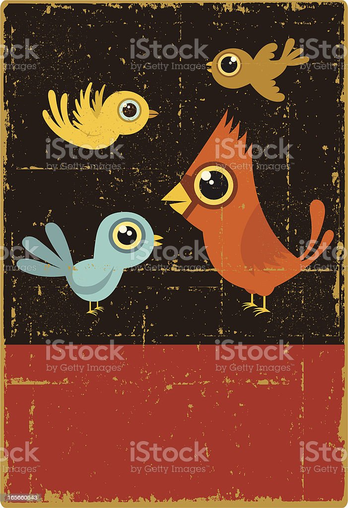 Vintage Four Calling Birds royalty-free vintage four calling birds stock vector art & more images of animal