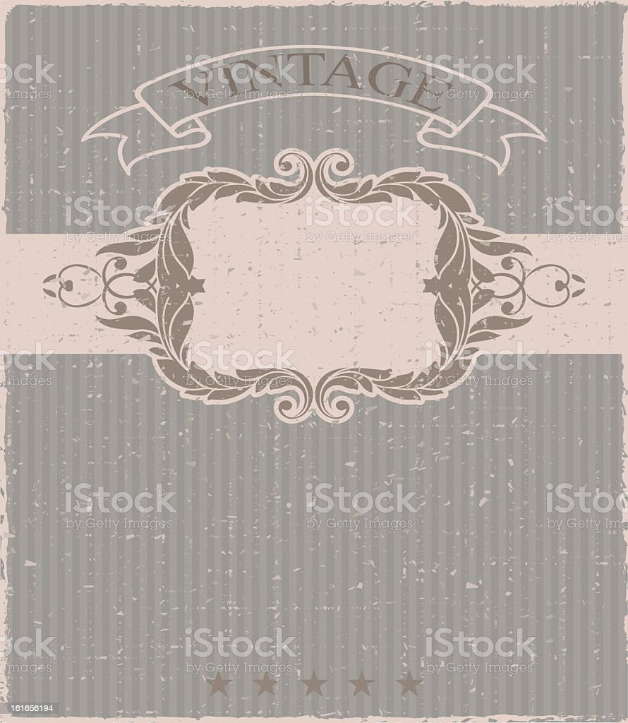 Vintage frame and seamless pattern. royalty-free stock vector art