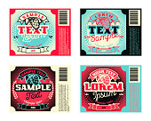 Vintage frame design for alcohol drinks labels, banner, sticker. Suitable for any liquid products. Retro vector illustration