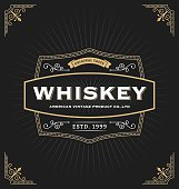 Vintage frame design for labels, banner, logo, emblem, menu, sticker and other design. Suitable for whiskey, beer, coffee shop, hotel, resort, jewellery and premium product. All type use free font.