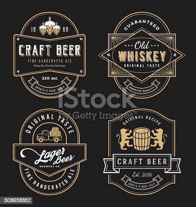 Vintage frame design for labels, banner, sticker and other design.