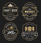 Vintage frame design for labels, banner, sticker and other design. Suitable for whiskey, beer, wine, beverage and premium product. All type use free font.
