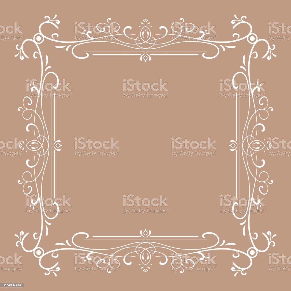 Vintage frame for monograms. Vector illustration royalty-free vintage frame for monograms vector illustration stock vector art & more images of antique