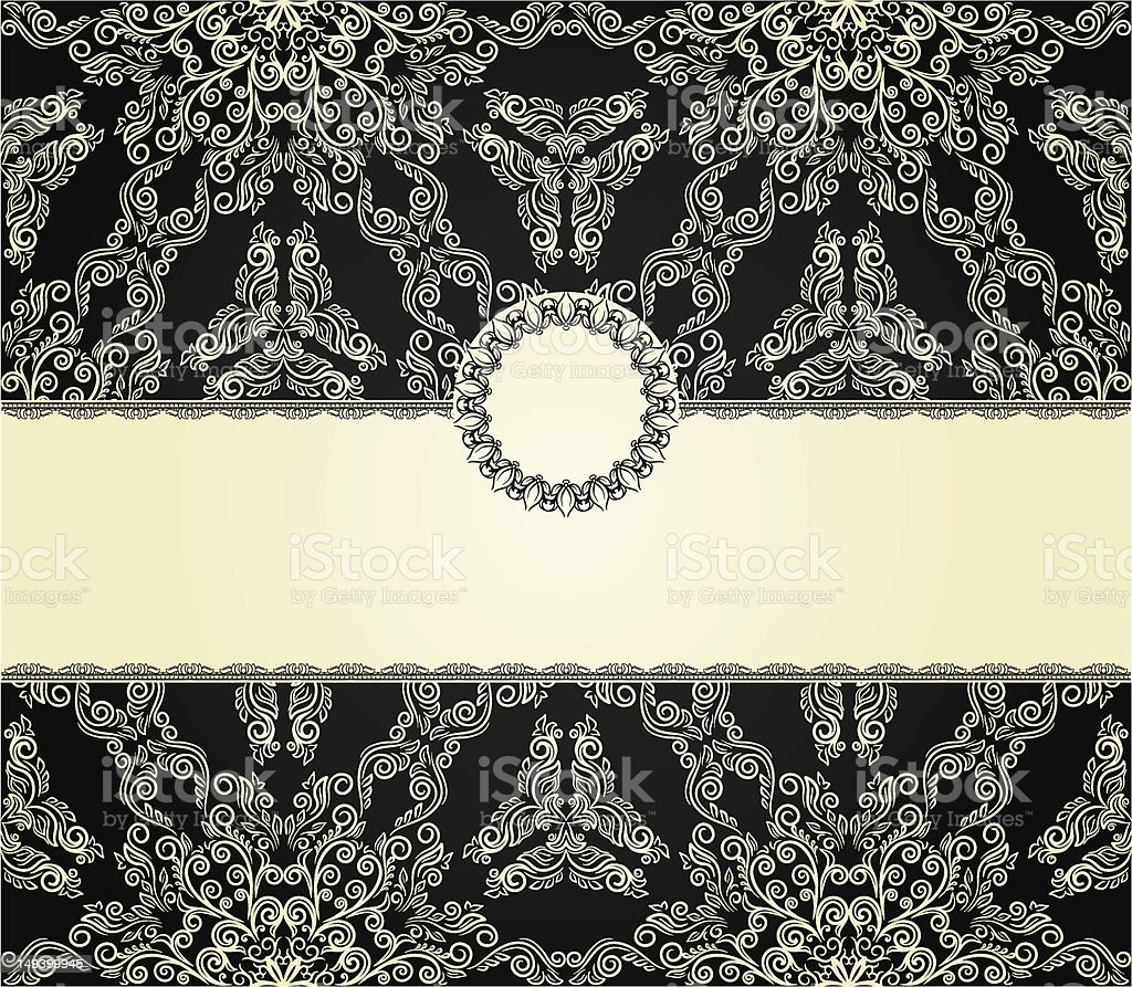 Vintage frame on seamless background royalty-free vintage frame on seamless background stock vector art & more images of announcement message