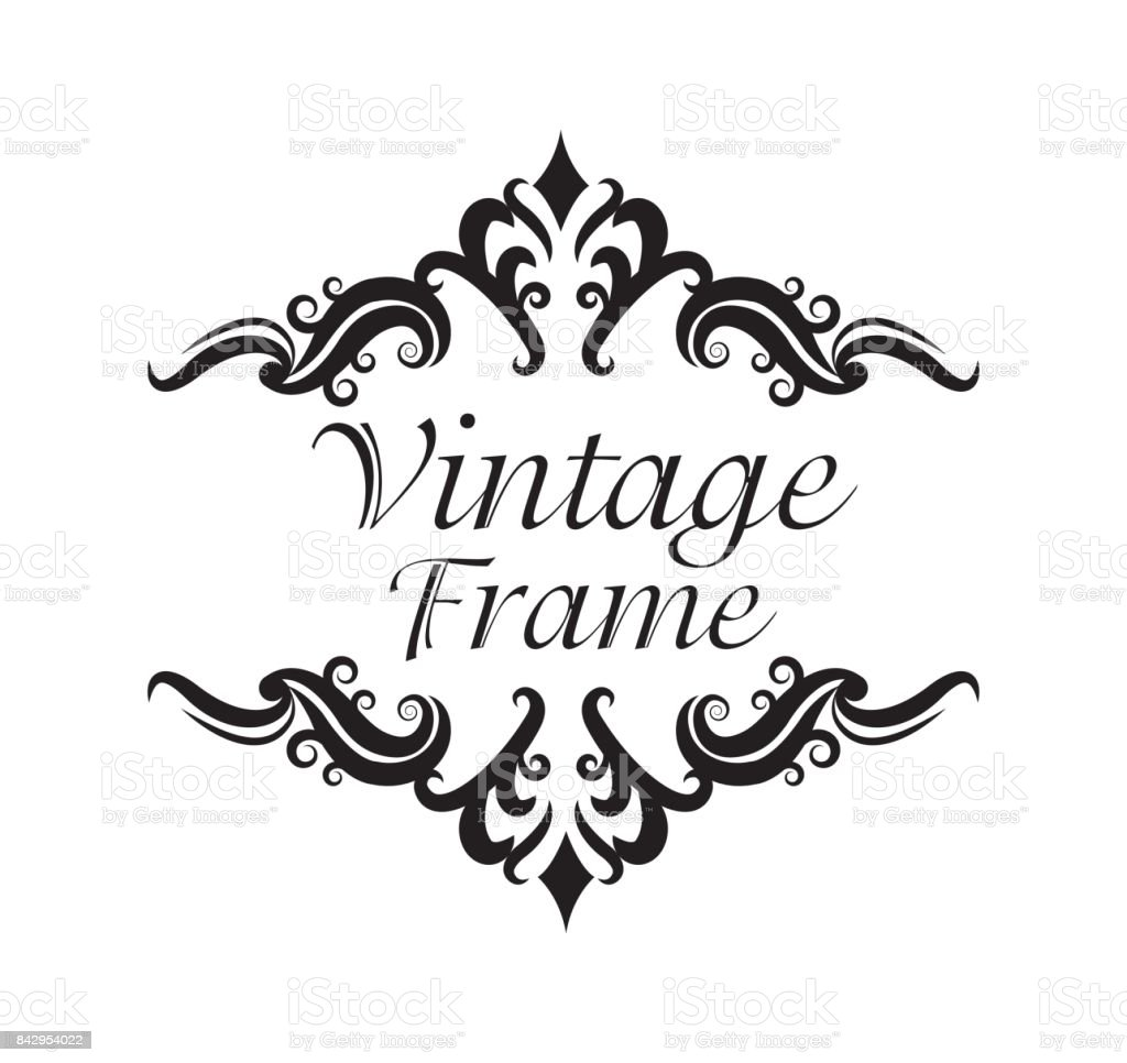 Vintage Frame Ornament Icon Stock Vector Art & More Images of Art ...