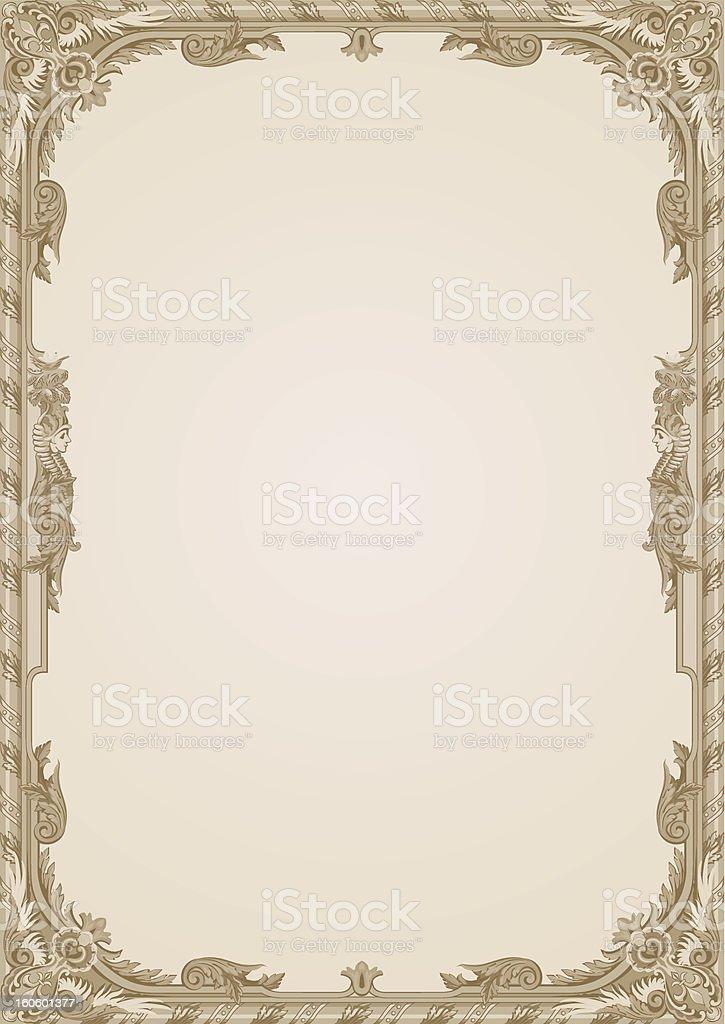 Vintage frame Vector Floral ornament. royalty-free stock vector art
