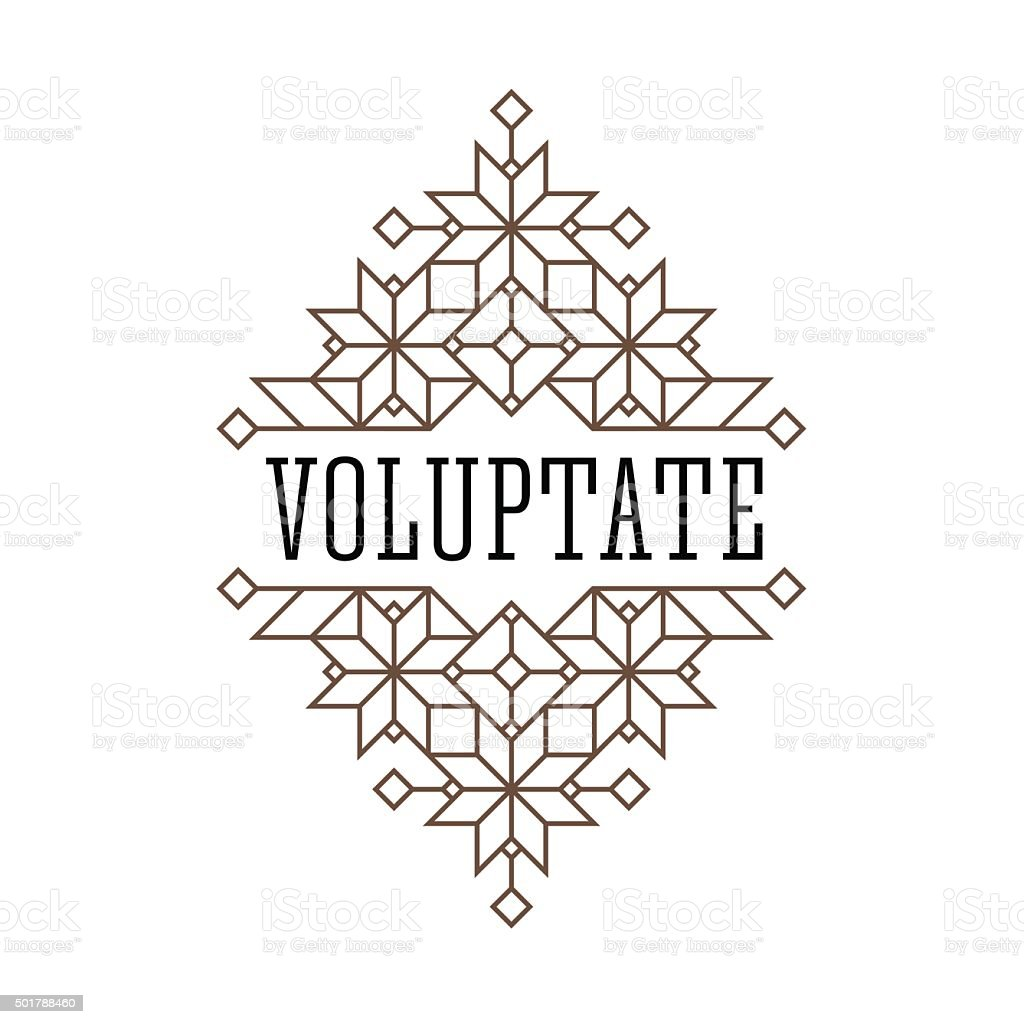 vintage frame vector art illustration