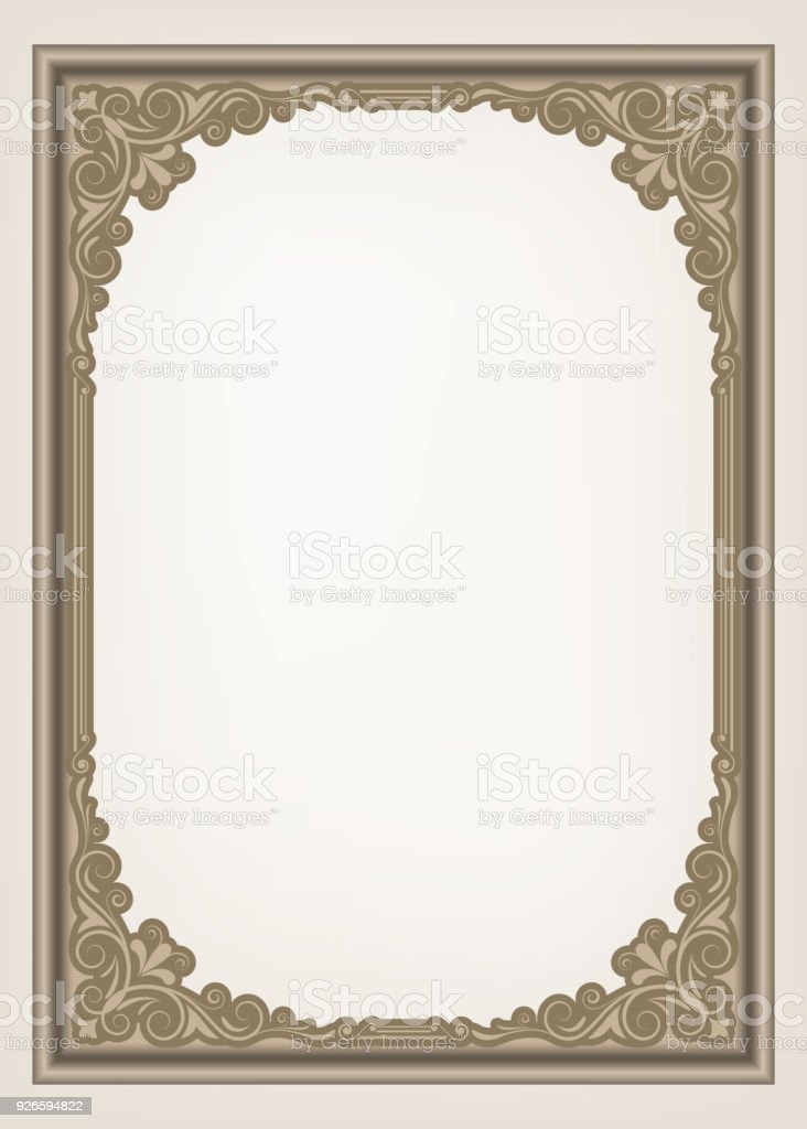 Vintage Frame Stock Vector Art & More Images of Abstract 926594822 ...